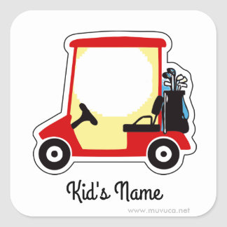 Golf cart square sticker