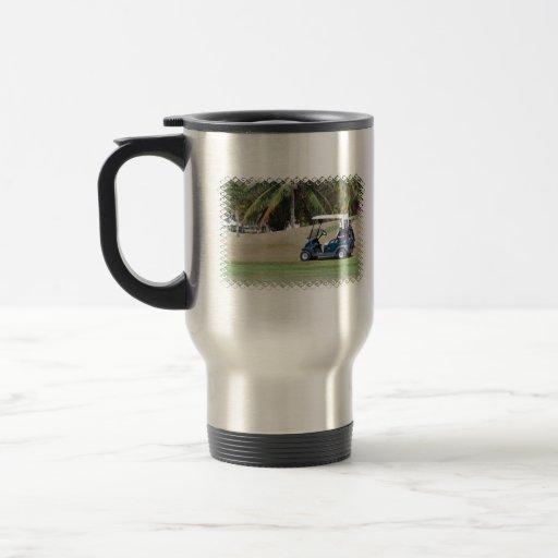 Golf Cart Stainless Travel Mug