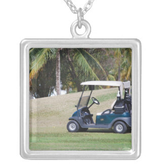 Golf Cart Sterling Silver Necklace