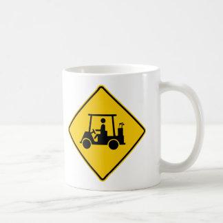 Golf Cart Traffic Highway Sign Coffee Mugs
