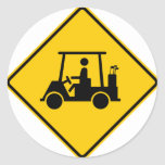 Golf Cart Traffic Highway Sign Stickers