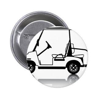 Golf Cart white Pinback Button