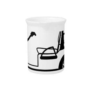 Golf Cart white Pitcher