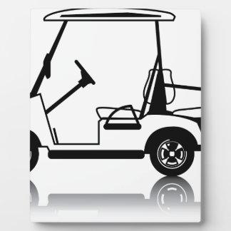 Golf Cart white Plaque
