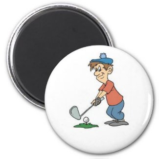 Golf cartoon magnet