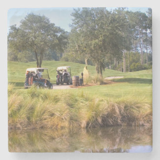 Golf Carts on the Course Stone Coaster