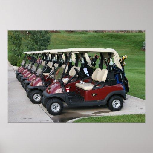 Golf Carts Poster