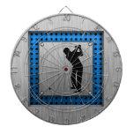 Golf cepillado de la mirada del metal tablero dardos