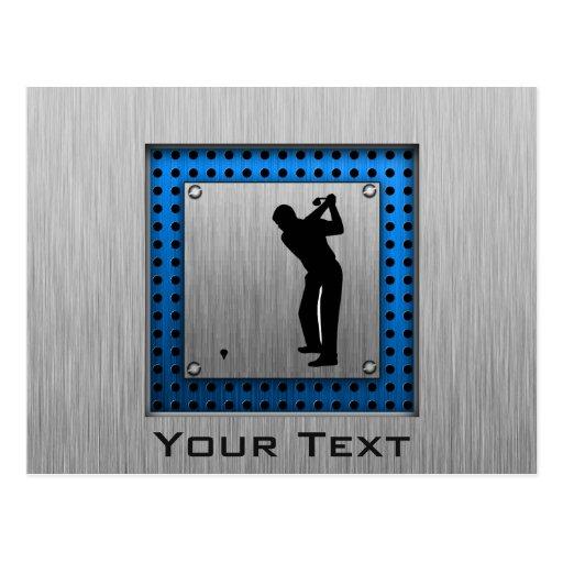 Golf cepillado de la mirada del metal postal