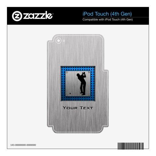 Golf cepillado de la mirada del metal iPod touch 4G calcomanía