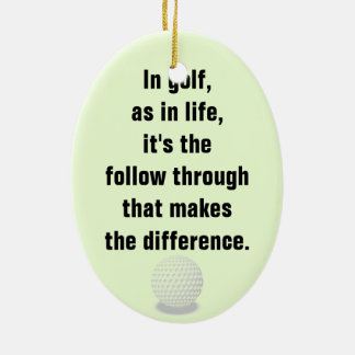 Golf Ceramic Ornament