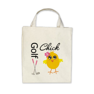 Golf Chick Canvas Bags