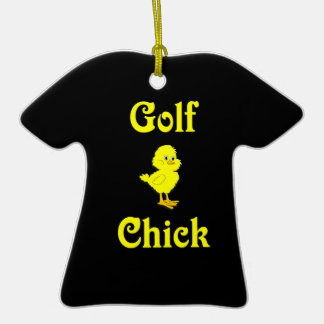 Golf  Chick Christmas Ornaments