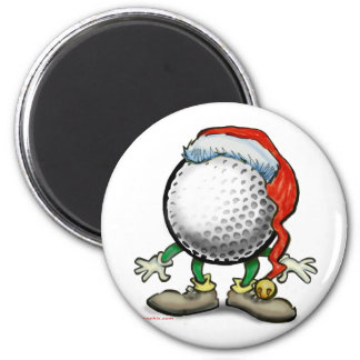Golf Christmas 2 Inch Round Magnet