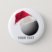 golf christmas button