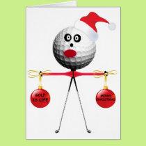 Golf Christmas Card