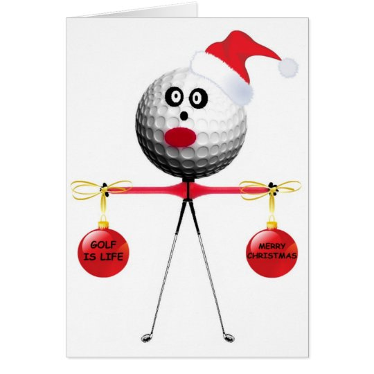 Golf Christmas Card