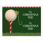 GOLF CHRISTMAS card Post Cards