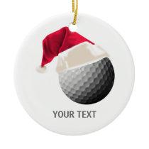 golf christmas ceramic ornament