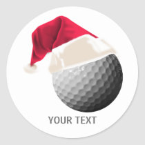 golf christmas classic round sticker