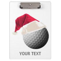 golf christmas clipboard