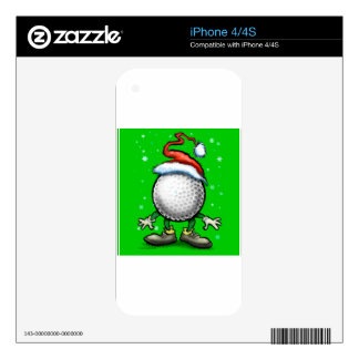 Golf Christmas Decal For The iPhone 4S