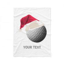 golf christmas fleece blanket