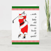 GOLF CHRISTMAS GIFT HOLIDAY CARD