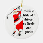 GOLF CHRISTMAS GIFT Double-Sided CERAMIC ROUND CHRISTMAS ORNAMENT