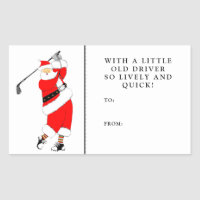 golf Christmas gift tags