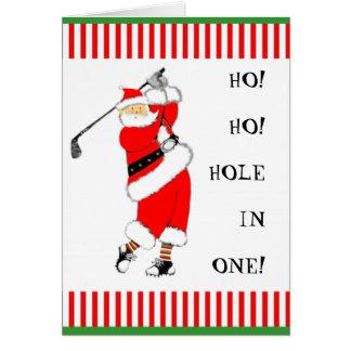 GOLF CHRISTMAS GREETING CARD