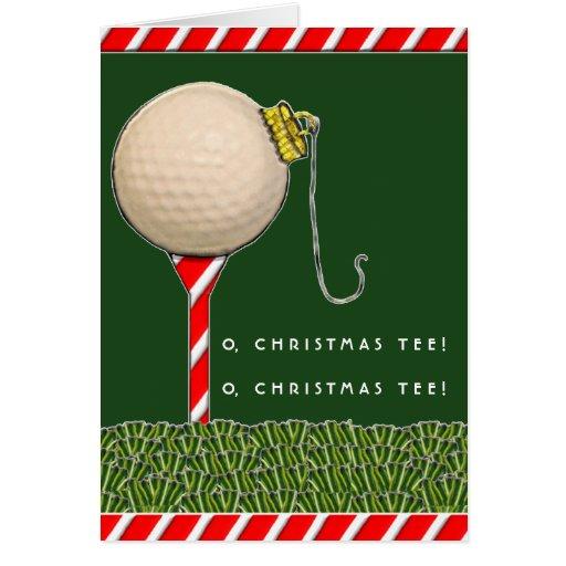 Golf Cart Dimensions >> Golf Christmas greeting Card | Zazzle