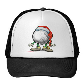 Golf Christmas Trucker Hats