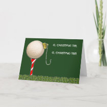 Golf Christmas Holiday Card
