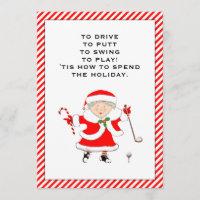 golf Christmas holiday cards