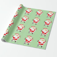 golf Christmas holiday gift ideas Wrapping Paper