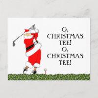 Golf Christmas Holiday Postcard