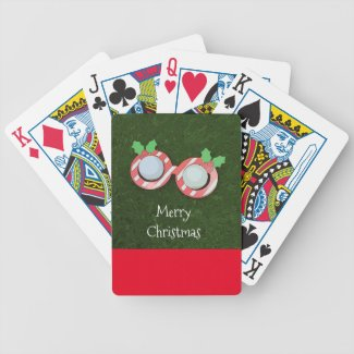 Golf Christmas Holiday with Santa Claus Glasses Bicycle Playing Cards