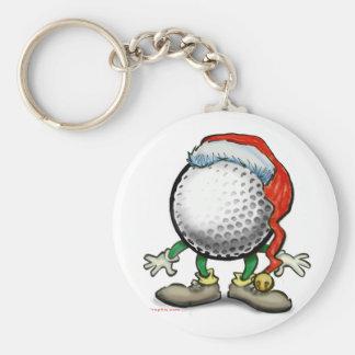 Golf Christmas Keychain