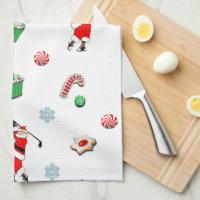 Golf Christmas Kitchen Towel
