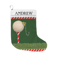Golf Christmas Large Christmas Stocking