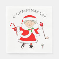 Golf Christmas Napkin