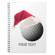 golf christmas notebook
