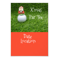 Golf Christmas Party Invitation with Santa Claus