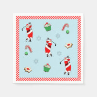 Golf Christmas party Napkin