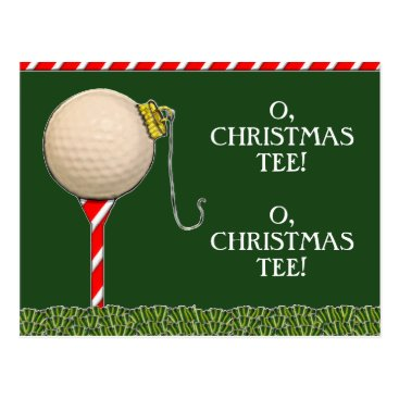 christmastee GOLF CHRISTMAS POSTCARD