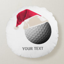 golf christmas round pillow