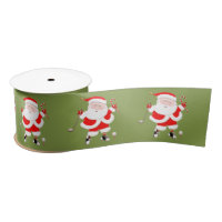 Golf Christmas Satin Ribbon