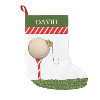Golf Christmas Small Christmas Stocking