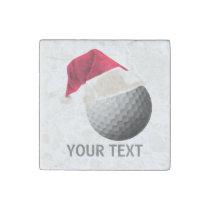 golf christmas stone magnet